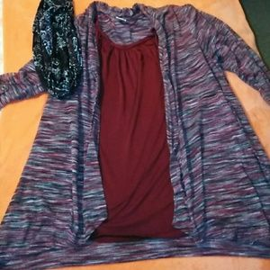 Tops - Attached top with removable scarf